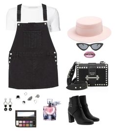 """""""Untitled #741"""" by n-abagnale on Polyvore featuring Rosetta Getty, MANGO, Federica Moretti, Le Specs, Huda Beauty, Yves Saint Laurent, Prada, Nathalie Jean, Belk & Co. and John Hardy"""