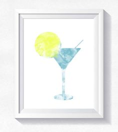 80%OFF COCKTAIL print instant download watercolor DRINK