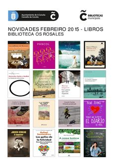 Novelas e libros de materias, xa dispoñibles para levar en préstamo, na Biblioteca Os Rosales.