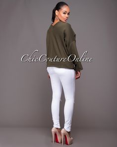 Chic Couture Online - Joie Olive Green Lace-Up Front Luxe Sweater, $40.00 (http://www.chiccoutureonline.com/joie-olive-green-lace-up-front-luxe-sweater/)