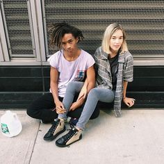 Pin for Later: 25 #OOTDs That Prove Jaden Smith's Girlfriend Sarah Snyder Is a Style Star to Watch She Coordinates the Carefree, Casual Look With Jaden