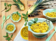 Compote d'Ananas au Basilic Cannelle - une recette jaune contre l'endométriose