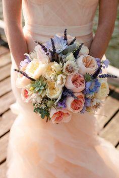 pale (cabbage roses + lavender)