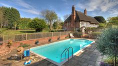 The Thatched House - The Big Cottage Company - Kate & Tom's - Heated outdoor pool at The Thatched House in Kent