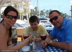 A young Harry Styles relaxes with his mum Anne Cox and stepdad Robin Twist