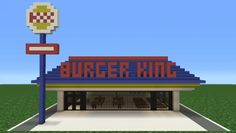 Minecraft Tutorial: How To Make A Burger King (Restaurant)