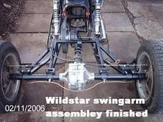 Simplest way out is to have a rigid trike, car axle, and some sort of 90 degree bevel box driven by a chain or a belt off the tranny and driving a shaft to the rear axle. Description from thechopperunderground.com. I searched for this on bing.com/images