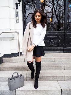 Bluse & Rock - Zara | Schuhe - Buffalo | Jacke - Drykorn | Schmuck - Thomas Sabo | Tasche - Prada