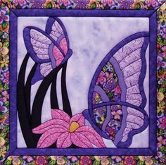 Butterfly Quilt Magic Kit, Large:Includes pre-cut foam board, assorted fabrics, pattern, and instructionsNo special tools requiredFun and easy to useFinished hanging measures: inch x inch Color: Multicolor. Mini Quilts, Small Quilts, Applique Patterns, Applique Quilts, Quilt Patterns, Crazy Quilting, Hand Quilting, Quilt Kits, Quilt Blocks