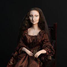 DollsDarya Puppe Mona Lisa del Giocondo, Paperclay
