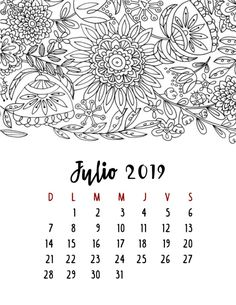 Calendario 2019 – Mama Inventiva Pretty Notes, Thing 1, Mandala, Scrapbook, Journal, Templates, Lettering, Creative, Bullet