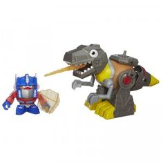Mr. Potato Head Transformers Rescue Bots Mixable Mashable Heroes Optimus Prime and Grimlock comes with 15 pieces for turning Mr. Potato Head into Transformers characters.