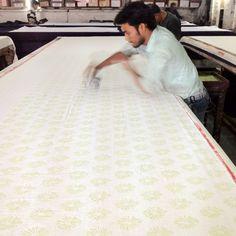Magic - ecru - the magic behind block printing in Jaipur. #blockprints #jaipur #ecru #textiles