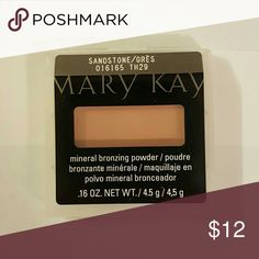 Mary Kay Mineral Bronzing Powder- Discontinued Sandstone Mary Kay Makeup Face Powder