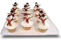 Resultado de imagen para snowman cupcakes