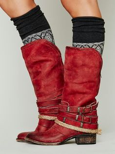 Rich red Free People Drazen Mid Boot. #fall #must