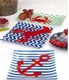 Nautical Glass Plates