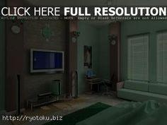 perpaduan warna cat kamar tidur coklat hijau