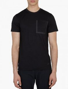 Nike Black Pocket Detail T-Shirt The Nike Grey Pocket Detail T-Shirt, seen here in black. - - - Crafted from a premium wool-blend with Dri-Fit technology for comfort, this crew-neck t-shirt is an innovative style from Nike™s technica http://www.MightGet.com/january-2017-13/nike-black-pocket-detail-t-shirt.asp