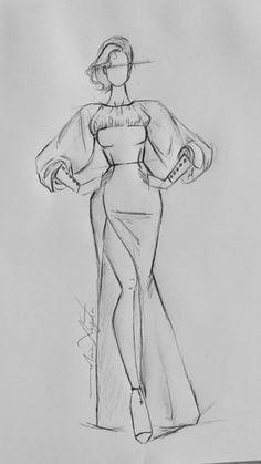 Dress Design Drawing, Dress Design Sketches, Fashion Design Sketchbook, Fashion Design Drawings, Art Drawings Sketches Simple, Fashion Sketches, Fashion Drawing Tutorial, Fashion Figure Drawing, Fashion Model Drawing