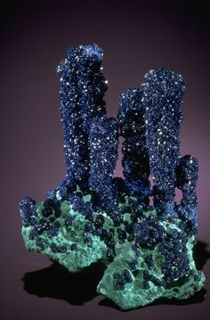 Azurite with Malachite (104889) from the National Mineral Collection