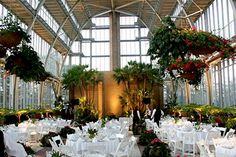 The Jewel Box in Forest Park is a beautiful location for a wedding reception.