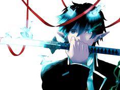 Okumura Rin - Ao no Exorcist - Image - Zerochan Anime Image Board Rin Okumura, Blue Exorcist Anime, Ao No Exorcist, Fullmetal Alchemist, Satan, Kagami Kuroko, The Garden Of Words, 4 Wallpaper, Blue Flames
