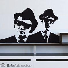 Stickers muraux Blues Brothers