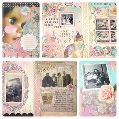 Some Art Journal pages :)    Do you art journal? How often? What are your favorite supplies?    Everyone has their own unique approach to journaling. I personally love to get messy! Lots of paint, and layers!