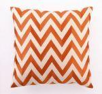 Zig Zag Linen Pillow- Orange