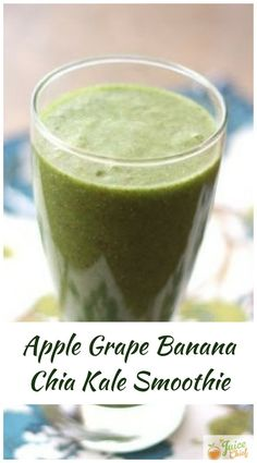 Green smoothies provide many health benefits for people, regardless of their age, gender, or fitness levels. Green smoothies combine various ingredients that provide an array of nutrients for the b… Grape Smoothie, Smoothie Prep, Smoothie Recipes, Detox Recipes, Healthy Green Smoothies, Apple Smoothies, Healthy Drinks, Healthy Food, Kale Juice