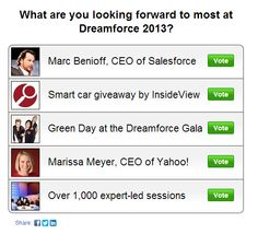 What are you looking forward to most at Dreamforce 2013? Vote on the #DF13 poll from InsideView! http://mrk.to/u7iw