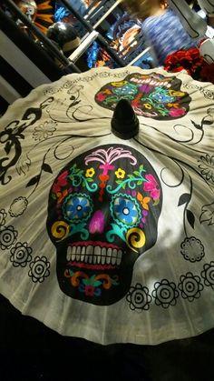 Dia de los Muertos/Day of the dead~ sugar skull Parasol.