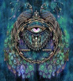 Resultado de imagem para peacock art