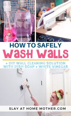 Epic and easy cleaning hacks, tips, and tricks you will find handy. Deep Cleaning Tips, House Cleaning Tips, Diy Cleaning Products, Cleaning Solutions, Spring Cleaning, Diy Home Cleaning, Kitchen Cleaning, Cleaning Painted Walls, Cleaning Walls
