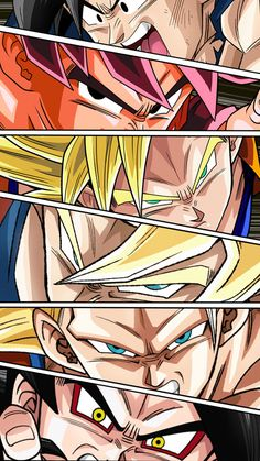 Goku forms by NabilJabour.deviantart.com on @DeviantArt