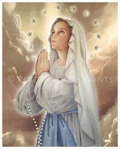 The Immaculate Conception Virgin Mary 8x10 by PortraitsofSaints, $12.00