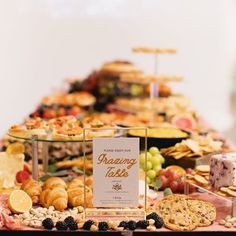 Grazing Table Gallery – Table & Thyme Wedding Appetizer Table, Appetizers Table, Wedding Appetizers, Appetizer Recipes, Brunch Party, Easter Brunch, Bridal Party Foods, Mini Crab Cakes, Charcuterie Recipes