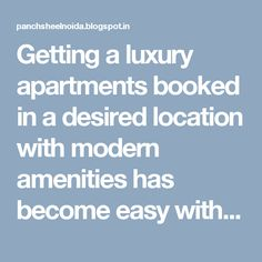 Getting a luxury apartments booked in a desired location with modern amenities has become easy with Panchsheel . Based at Sector 75, Noida , Panchsheel Pratishtha is a perfect place of a dream home.