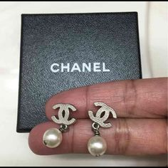 Authentic Chanel Earrings ⚡️Authentic Chanel earrings⚡️❤️preloved condition with no signs of damage❤️ from the 2010 collection⚡️will come with its original box only⚡️ No receipt• Will accept reasonable offer using the offer button• not in a rush to sell so please no rude offers • CHANEL Jewelry Necklaces