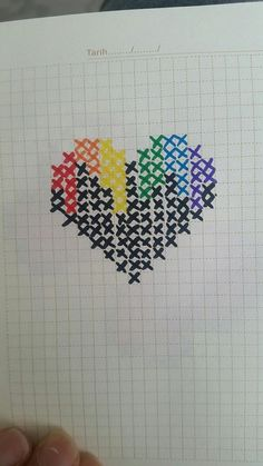 Tiny Cross Stitch, Cross Stitch Boards, Cross Stitch Heart, Beaded Cross Stitch, Modern Cross Stitch, Cross Stitch Designs, Cross Stitch Embroidery, Embroidery Patterns, Hand Embroidery