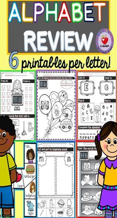 This pack covers all 26 letters of the alphabet and is intended to help students master the alphabet in a fun way!  These engaging printables can be used for centers, as morning work, independent work (after practicing a few times they will be able to complete these independently) or even as homework.  Although this pack was created as an end of year review, it could easily be used any time during the year.