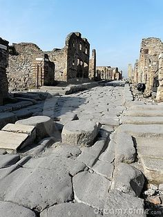 Paved Street At Pompeii, Italy