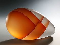 Orange Seed Segmentation, 2009; acid etched glass by Ji Yong Lee