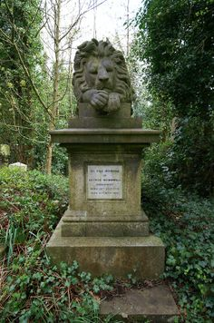 George Wombwell - Menagerist.  George Wombwell died in 1850 and was buried under a statue of his lion Nero.