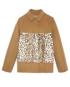 Leopard Printed Goat and Cashmere Blend Jacket