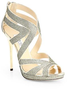 Jimmy Choo Collar Glitter Lame Platform Sandals on shopstyle.com