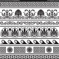 Greek Illustrations and Clipart. Greek royalty free illustrations, and drawings available to search from thousands of stock vector EPS clip art graphic designers. Border Pattern, Border Design, Pattern Art, Maui Tattoo, Greek Pattern, Vector Border, Ancient Greek Art, Greek Design, Art Antique