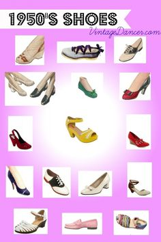 Women's 1950's Shoes #1950sshoes #1950sfashion #vintage