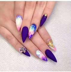 The Perfect Galaxy Nails!!